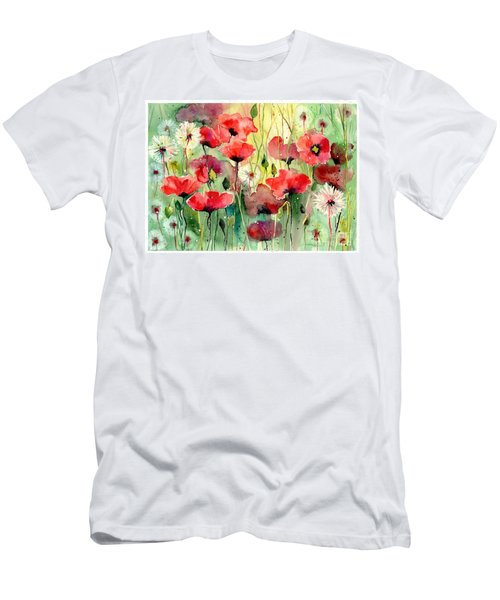 Dreamy Hot Summer Fields Men's T-Shirt (Athletic Fit)