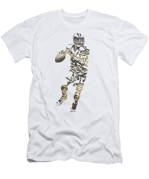 Drew Brees New Orleans Saints Pixel Art T Shirt 1 Men's T-Shirt (Athletic Fit)