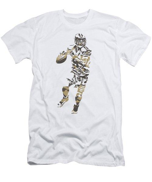 Drew Brees New Orleans Saints Pixel Art T Shirt 1 Men's T-Shirt (Athletic Fit)