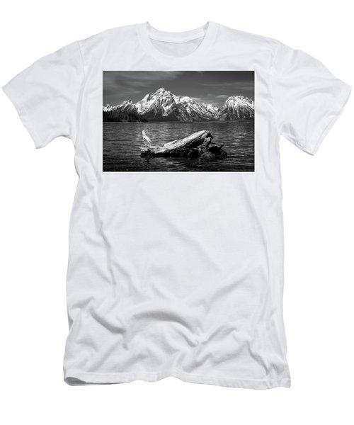 driftwood and Mt. Moran Men's T-Shirt (Athletic Fit)
