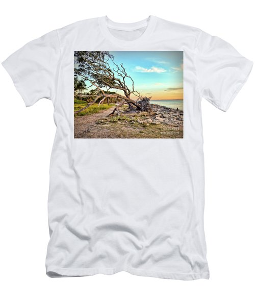 Driftwood Beach Morning 2 Men's T-Shirt (Athletic Fit)