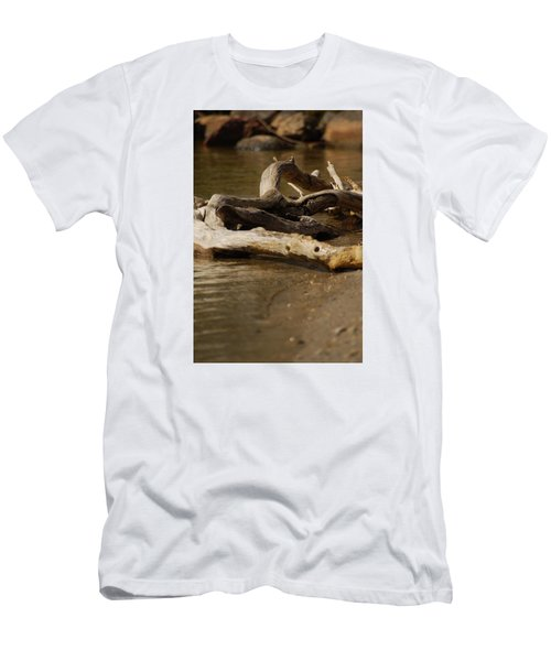 Men's T-Shirt (Slim Fit) featuring the photograph Driftwood by Ramona Whiteaker