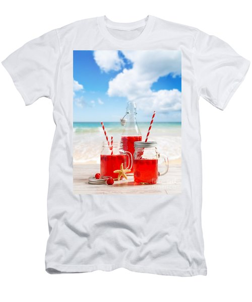 Drinks At The Beach Men's T-Shirt (Athletic Fit)