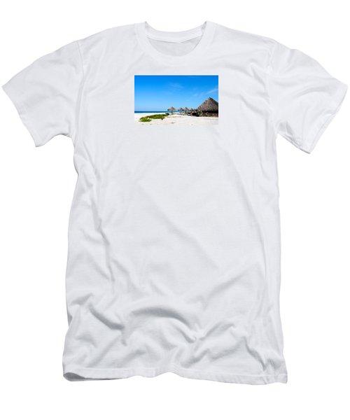 Drinks On Me Men's T-Shirt (Slim Fit) by Margie Amberge