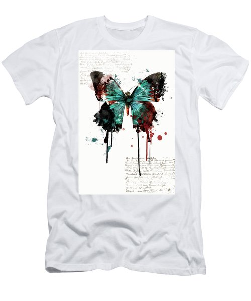 Dripping Butterfly Men's T-Shirt (Athletic Fit)