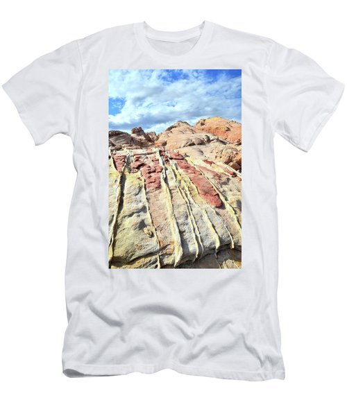Dripping Color In Valley Of Fire Men's T-Shirt (Slim Fit) by Ray Mathis