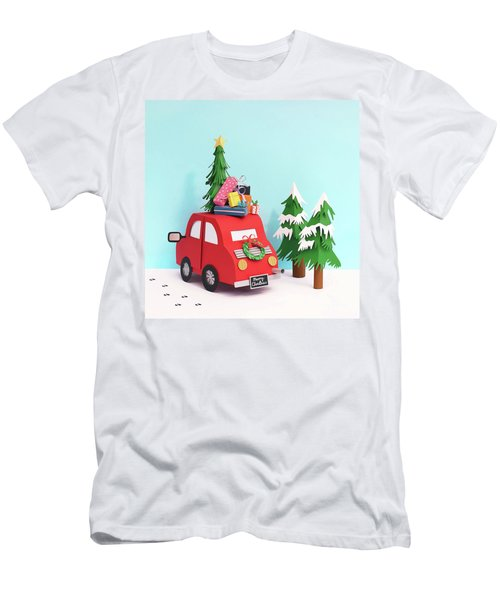 Driving Home For Christmas Men's T-Shirt (Athletic Fit)