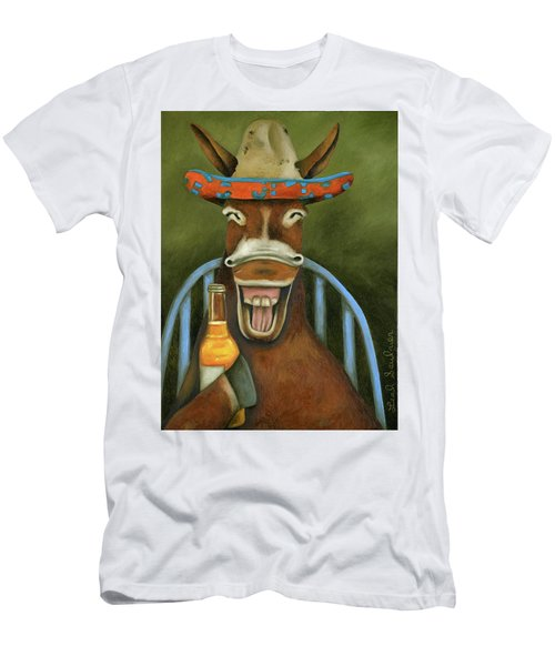 Drunken Dumb Ass Men's T-Shirt (Slim Fit) by Leah Saulnier The Painting Maniac