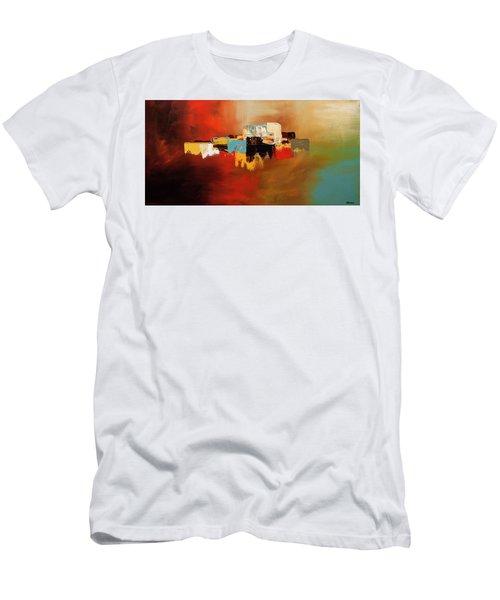 Men's T-Shirt (Slim Fit) featuring the painting Du Soleil by Carmen Guedez