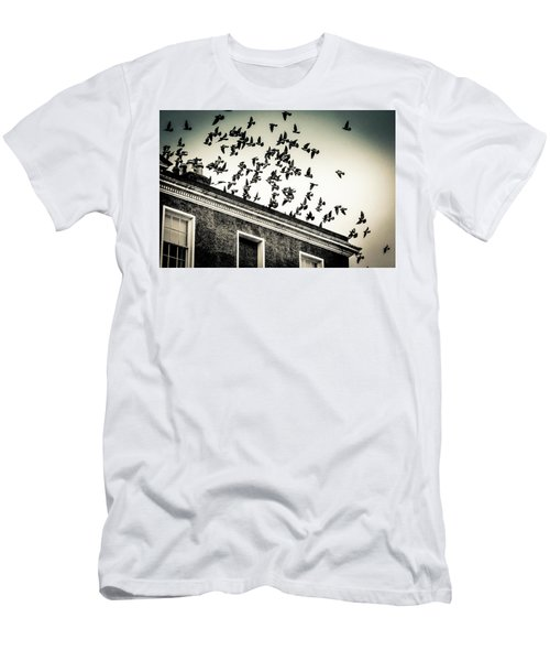 Flight Over Oscar Wilde's Hood, Dublin Men's T-Shirt (Athletic Fit)