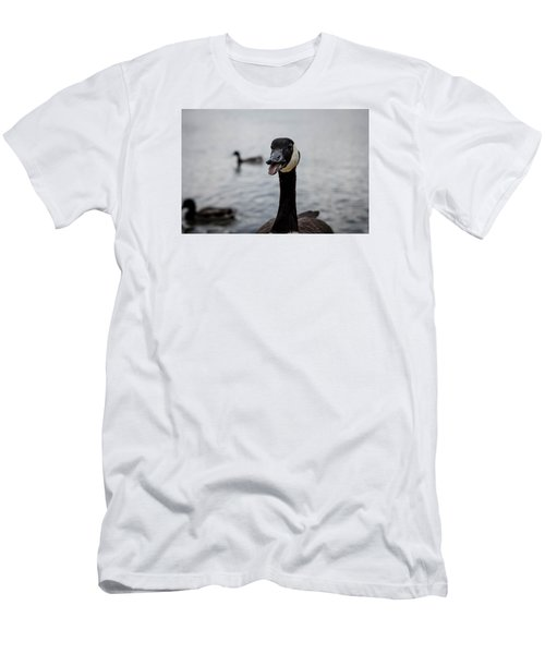 Duck Duck Goose  Men's T-Shirt (Athletic Fit)
