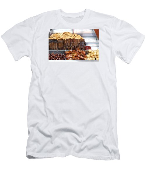 Duck Heads In Soy Sauce And Rice And Blood Cakes Men's T-Shirt (Slim Fit)