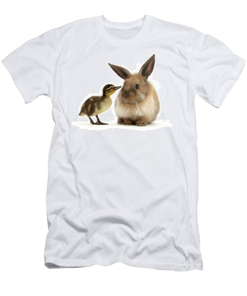 Duck Out Bunny Men's T-Shirt (Athletic Fit)