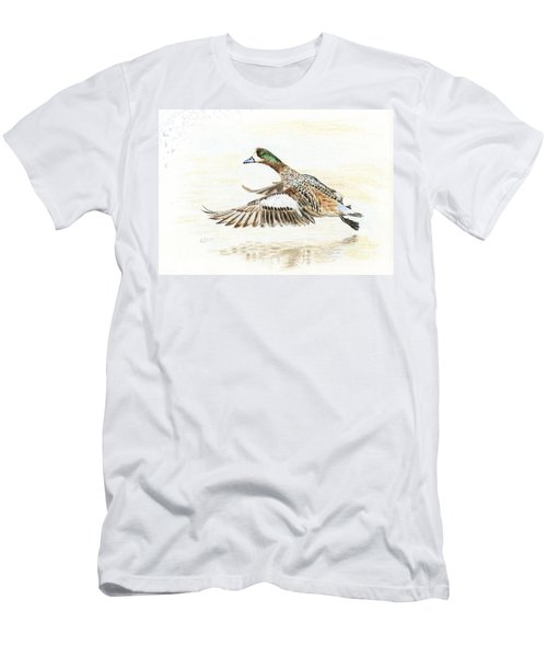 Duck Taking Off. Men's T-Shirt (Athletic Fit)