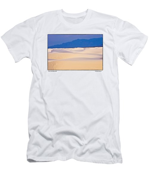 Dunes With Mountains Men's T-Shirt (Slim Fit) by R Thomas Berner