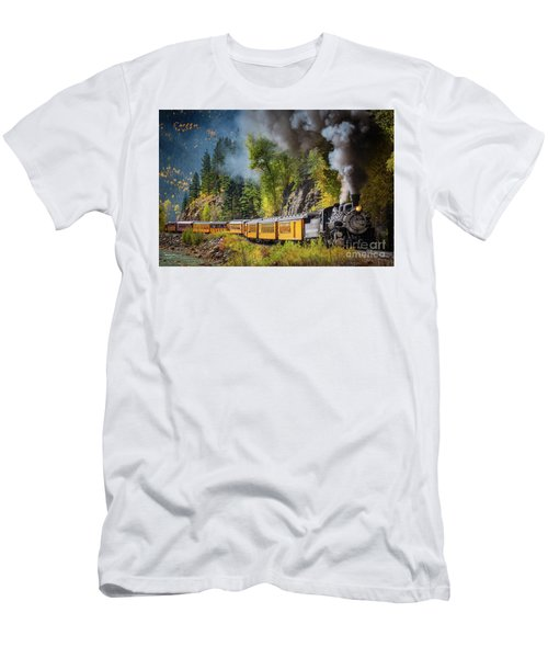 Durango-silverton Narrow Gauge Railroad Men's T-Shirt (Athletic Fit)
