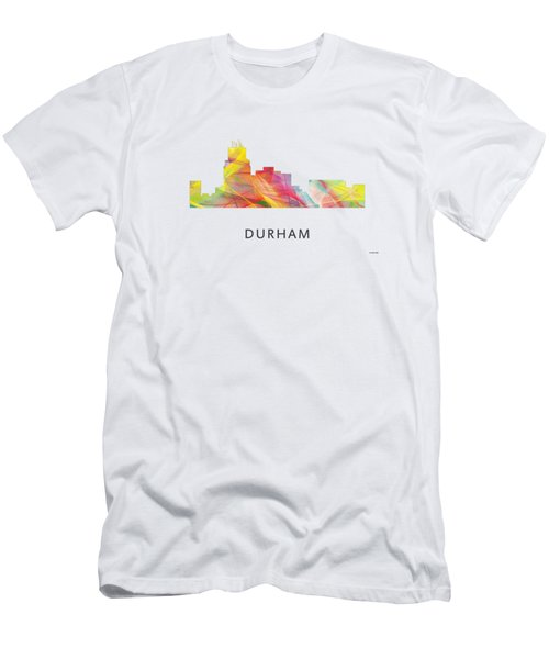 Durham North Carolina Skyline Men's T-Shirt (Slim Fit) by Marlene Watson