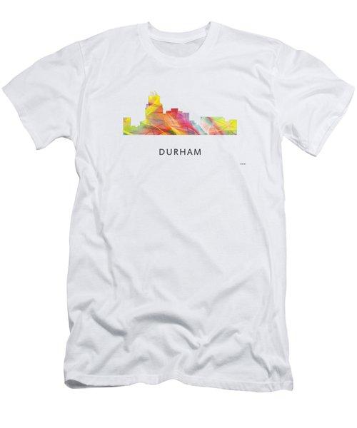 Durham North Carolina Skyline Men's T-Shirt (Athletic Fit)