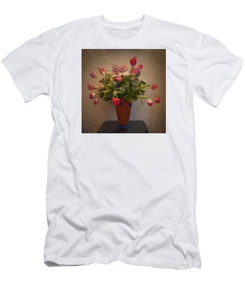 Dutch Flowers Blooming Men's T-Shirt (Athletic Fit)