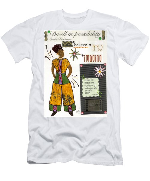 Dwell In Possibility Men's T-Shirt (Slim Fit) by Angela L Walker