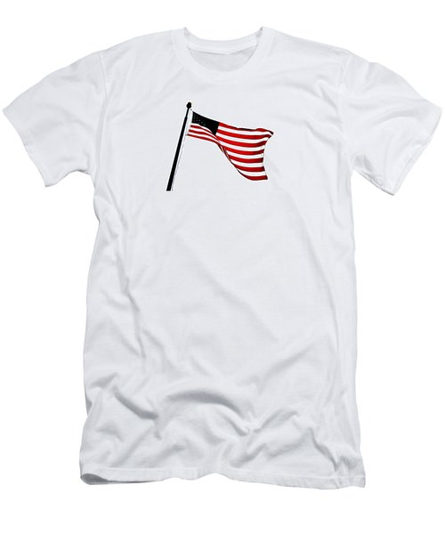 Dynamic Stars And Stripes Men's T-Shirt (Athletic Fit)