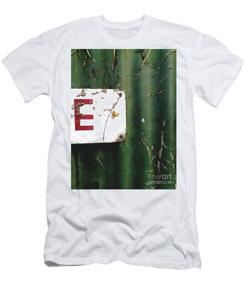 E Men's T-Shirt (Slim Fit) by Rebecca Harman