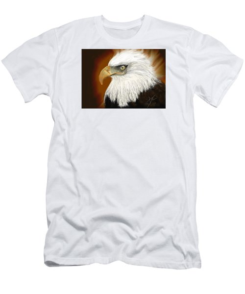 Men's T-Shirt (Athletic Fit) featuring the digital art Eagle American by Darren Cannell