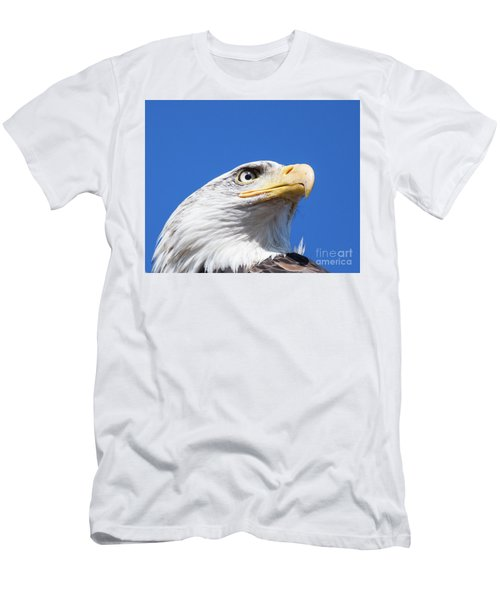 Men's T-Shirt (Slim Fit) featuring the photograph Eagle by Jim  Hatch