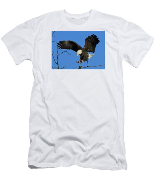 Men's T-Shirt (Slim Fit) featuring the photograph Eagle Landing by Coby Cooper