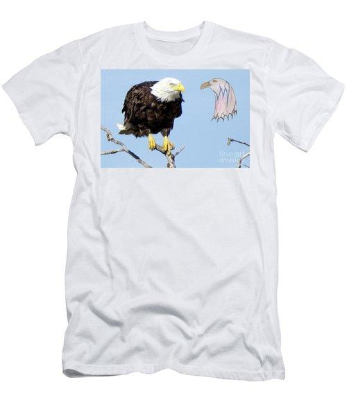 Eagle Reflection Men's T-Shirt (Athletic Fit)