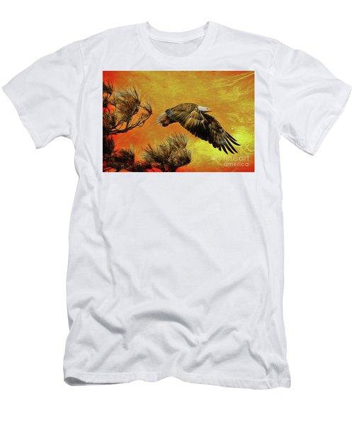 Men's T-Shirt (Slim Fit) featuring the painting Eagle Series Strength by Deborah Benoit