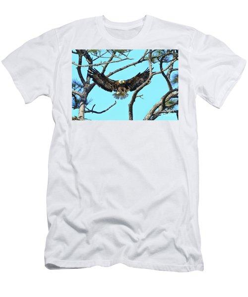 Men's T-Shirt (Slim Fit) featuring the photograph Eagle Series Wings by Deborah Benoit