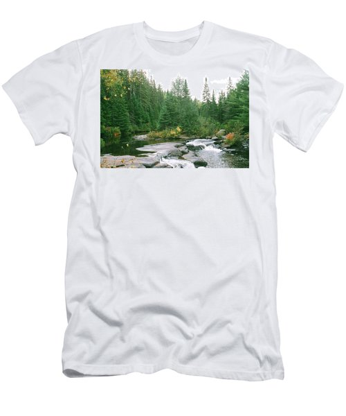 Early Autumn On The Madawaska River Men's T-Shirt (Athletic Fit)