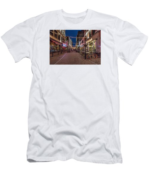 Men's T-Shirt (Slim Fit) featuring the photograph Early Evening On E. 4th by Brent Durken