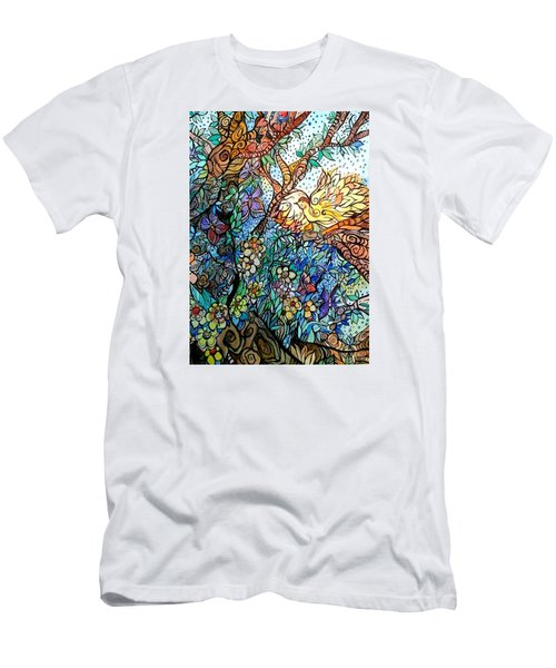 Early Fall Men's T-Shirt (Slim Fit) by Claudia Cole Meek