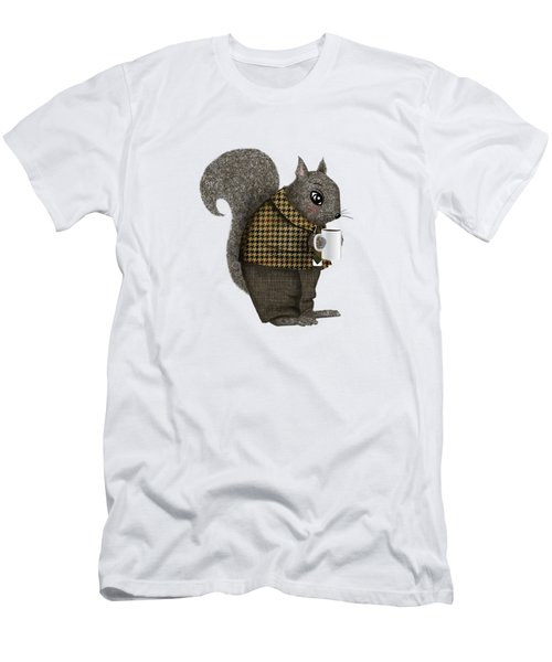 Early Morning For Mister Squirrel Men's T-Shirt (Slim Fit) by Little Bunny Sunshine