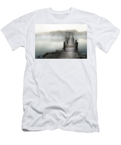 Men's T-Shirt (Slim Fit) featuring the photograph Yesterday's Early Morning Pier by Tamyra Ayles