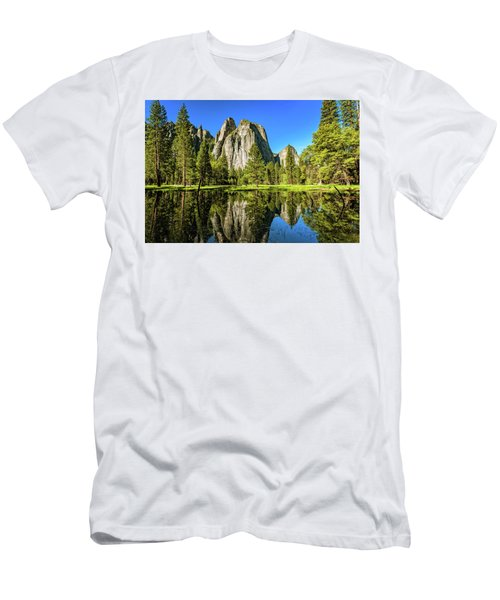 Men's T-Shirt (Athletic Fit) featuring the photograph Early Morning View At Cathedral Rocks Vista by John Hight