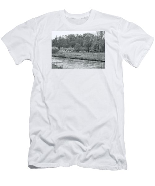 Early Spring In England Black And White Men's T-Shirt (Athletic Fit)