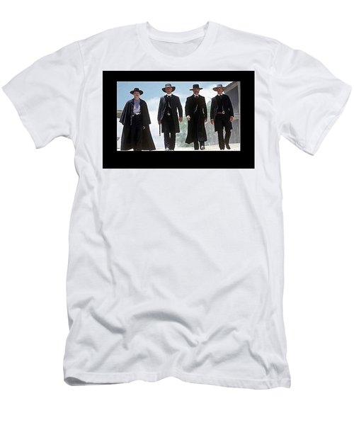 Earp Brothers And Doc Holliday Approaching O.k. Corral Tombstone Movie Mescal Az 1993-2015 Men's T-Shirt (Athletic Fit)