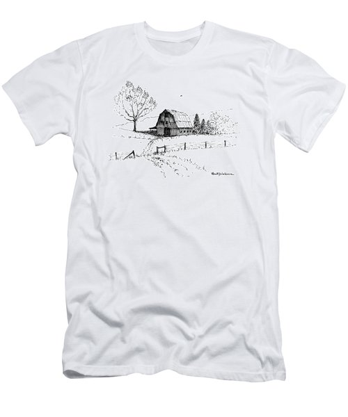 East Texas Hay Barn Men's T-Shirt (Athletic Fit)
