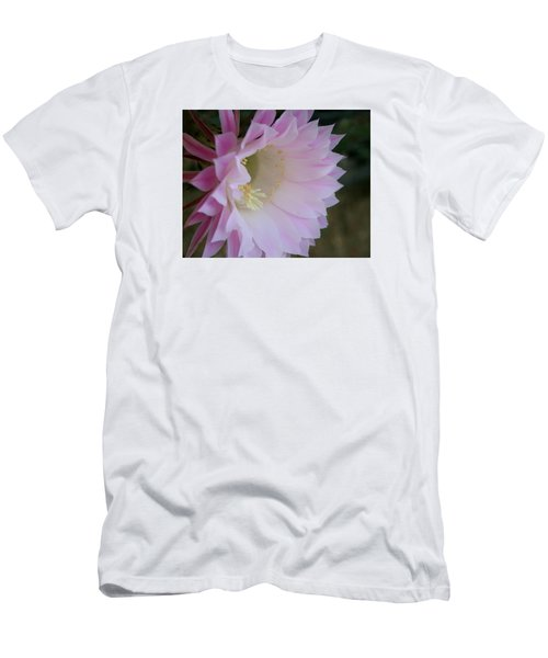 Men's T-Shirt (Slim Fit) featuring the painting Easter Lily Cactus East 2 by Marna Edwards Flavell