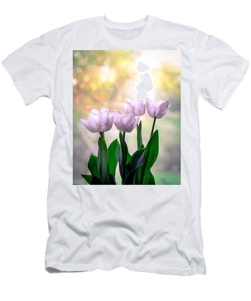 Easter Tulips Men's T-Shirt (Slim Fit) by Ronda Broatch