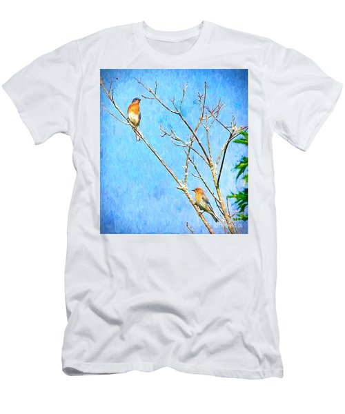 Eastern Bluebird Couple Men's T-Shirt (Athletic Fit)