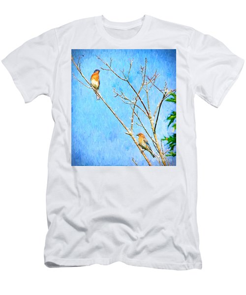 Eastern Bluebird Couple Men's T-Shirt (Athletic Fit)