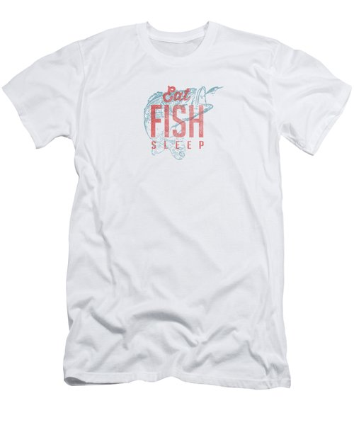 Eat Fish Sleep Tee Men's T-Shirt (Athletic Fit)