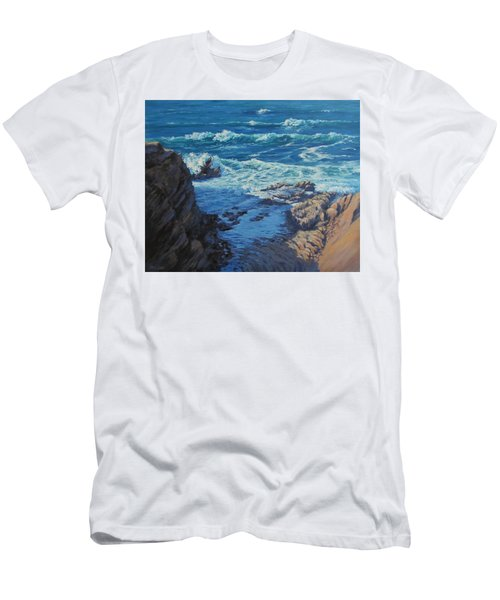Men's T-Shirt (Slim Fit) featuring the painting Ebb And Flow by Karen Ilari