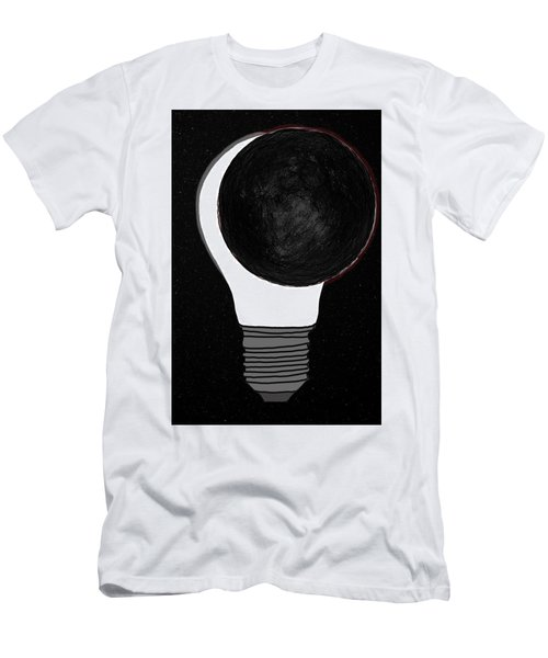 Men's T-Shirt (Athletic Fit) featuring the drawing Eclipse by John Haldane