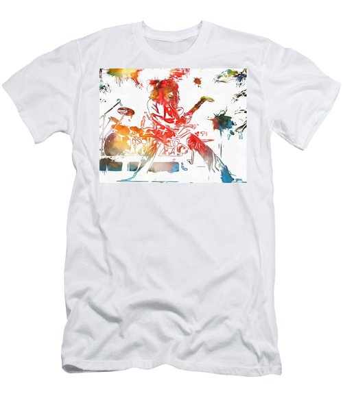 Eddie Van Halen Paint Splatter Men's T-Shirt (Slim Fit) by Dan Sproul
