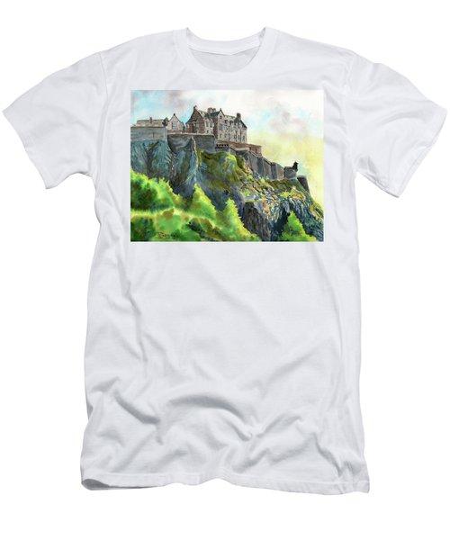 Edinburgh Castle From Princes Street Men's T-Shirt (Athletic Fit)